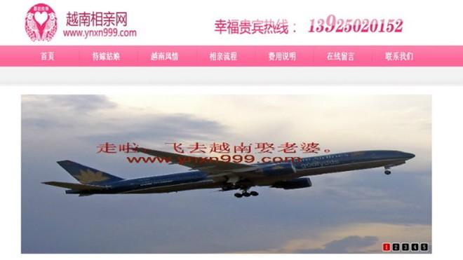 Trung Quốc sẽ triệt phá trang web môi giới cô dâu Việt - Ảnh 1