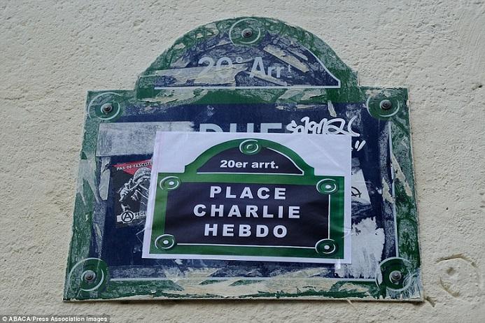 Khắp Paris tràn ngập tranh vẽ tưởng nhớ nạn nhân vụ Charlie Hebdo - Ảnh 10