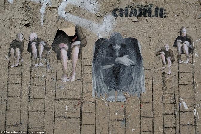 Khắp Paris tràn ngập tranh vẽ tưởng nhớ nạn nhân vụ Charlie Hebdo - Ảnh 11