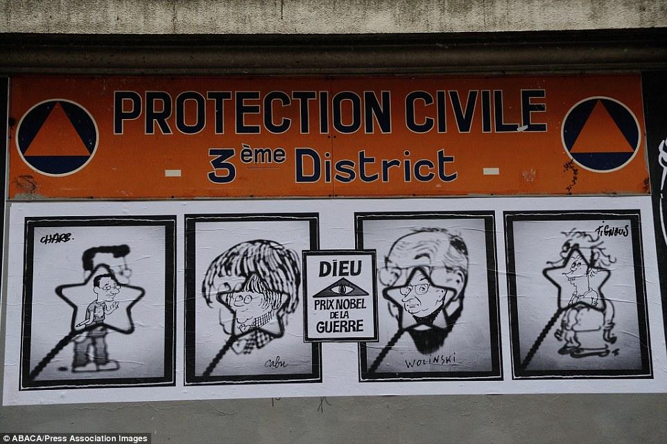 Khắp Paris tràn ngập tranh vẽ tưởng nhớ nạn nhân vụ Charlie Hebdo - Ảnh 4