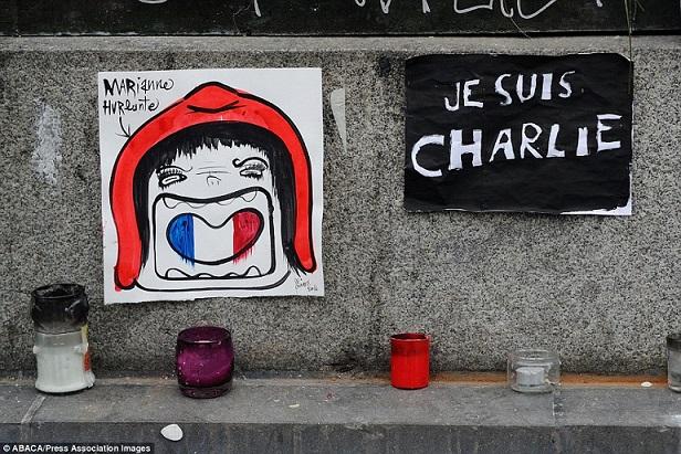 Khắp Paris tràn ngập tranh vẽ tưởng nhớ nạn nhân vụ Charlie Hebdo - Ảnh 7