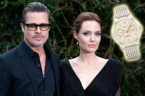 Sốc đồng hồ 63 tỉ Angelina Jolie tặng chồng ngày cưới - Ảnh 1