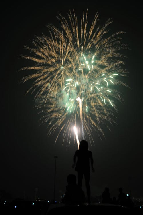 Bắn pháo hoa 10/10: Pháo hoa ngập trời, Hà Nội lung linh - Ảnh 23