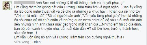 """Cao Thái Sơn bênh vực Hương Tràm trước """"gạch đá"""" dư luận - Ảnh 2"""