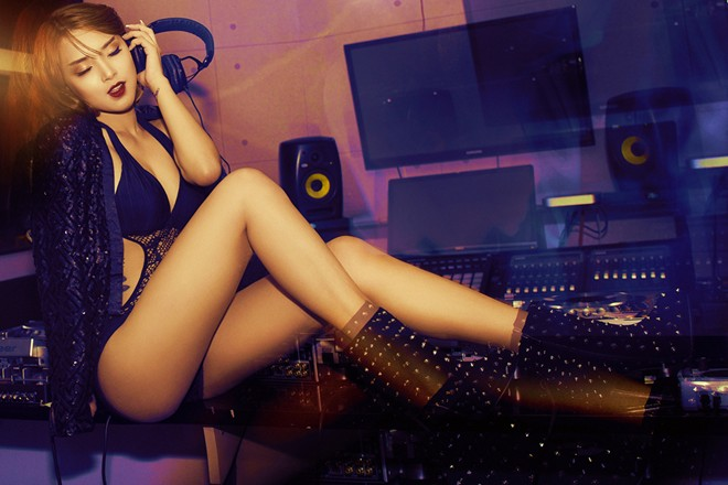 Hải Băng diện nội y làm DJ sexy khó cưỡng - Ảnh 6