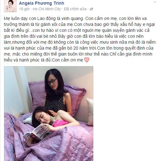 Angela Phương Trinh tự hào về gánh xôi của mẹ - Ảnh 1