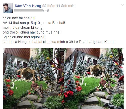 Noel 2014 lung linh, huyền ảo trong căn nhà triệu đô của Đàm Vĩnh Hưng - Ảnh 1