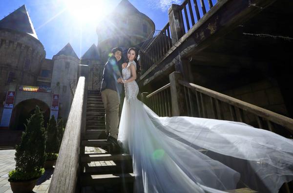 Nhật Kim Anh tung ảnh cưới độc đáo, lãng mạn - Ảnh 10