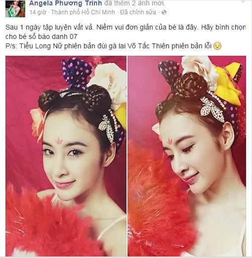"""Angela Phương Trinh hóa Tiểu Long Nữ với """"tóc đùi gà"""" nhí nhảnh  - Ảnh 1"""