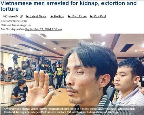 Ba người Việt bắt cóc tống tiền, chặt ngón tay đồng hương ở Thái  - Ảnh 1