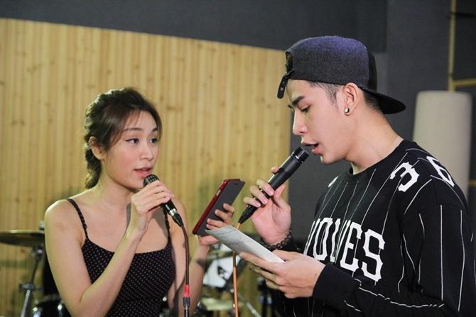 Liveshow Cặp đôi hoàn hảo 2014: Lê Phương chăm chú tập hát cho Nam Cường - Ảnh 3