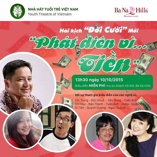 """Tại Bà Nà Hills: Nghệ sỹ Chí Trung và Vân Dung cùng """"phát điên vì tiền"""" - Ảnh 1"""