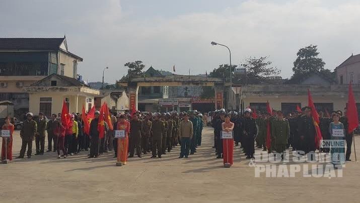 Hà Tĩnh: Ra quân phòng ngừa, truy quét tội phạm dịp tết Nguyên Đán - Ảnh 1