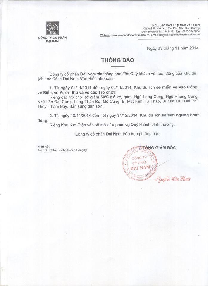 """Đại gia Dũng """"lò vôi"""" chính thức đóng cửa khu du lịch Đại Nam - Ảnh 2"""