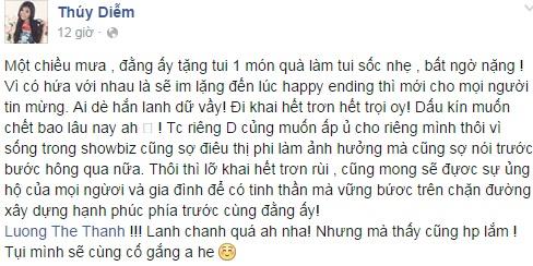 Thúy Diễm sắp kết hôn với diễn viên điển trai Lương Thế Thành - Ảnh 2