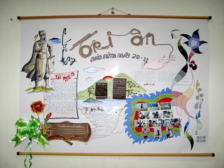 Những mẫu báo tường 20/11 đẹp nhất tri ân thầy cô - Ảnh 5