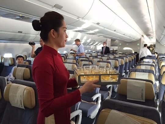 Bộ trưởng Đinh La Thăng bay trình diễn cùng máy bay A350 XWB - Ảnh 7