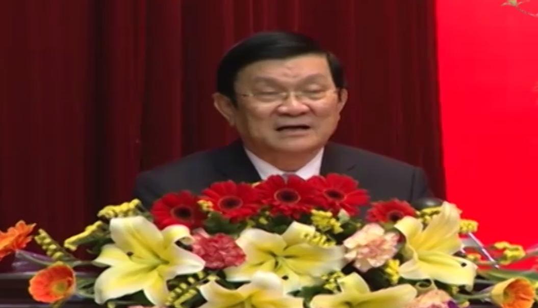 Chủ tịch nước Trương Tấn Sang chúc Tết Tổng cục V, Bộ Công an - Ảnh 1