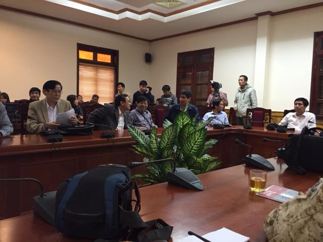 Tổng hợp thông tin họp báo vụ sập giàn giáo tại Formosa - Hà Tĩnh - Ảnh 1