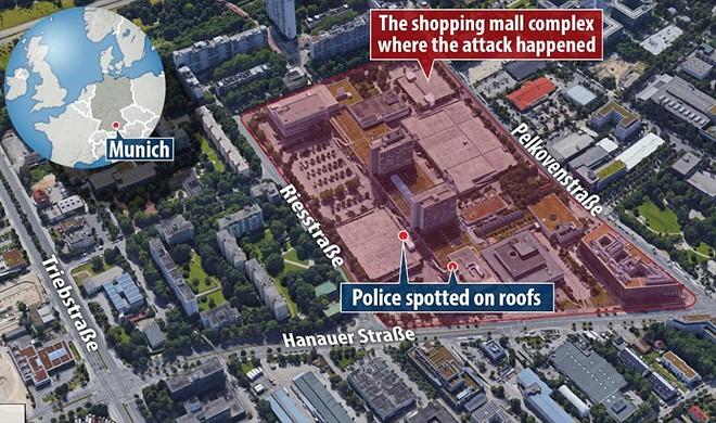 Hiện trường vụ xả súng vào trung tâm mua sắm ở Đức - Ảnh 1