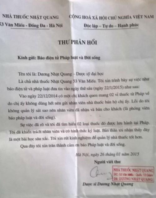Bán thuốc xách tay: Nhà thuốc Nhật Quang có bị tước giấy phép? - Ảnh 1