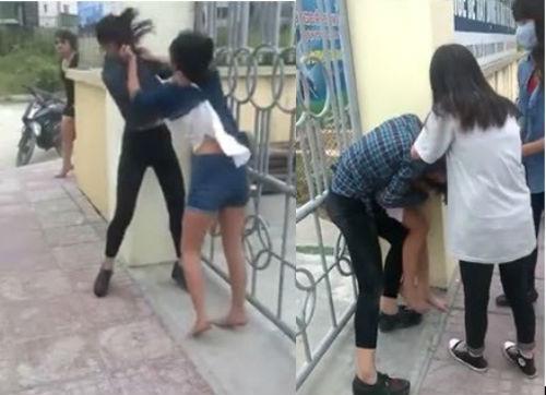 Xôn xao clip 2 nữ sinh cấp 2 đánh nhau, bạn học cổ vũ nhiệt tình - Ảnh 1
