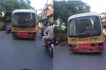 """Sự thật bất ngờ về """"xe buýt ma"""" không người lái giữa phố Hà Nội - Ảnh 1"""