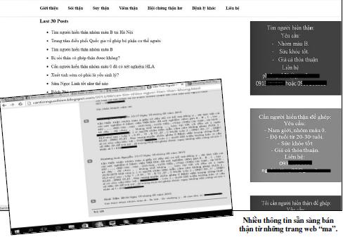 """Ma trận """"chợ thận"""" online và những thương vụ mang tên hiến tặng - Ảnh 1"""