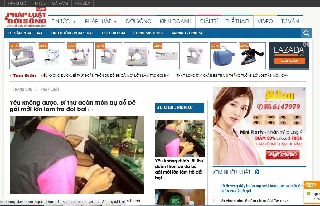 Xuất hiện website nhái phiên bản điện tử Báo Đời sống & Pháp luật - Ảnh 1