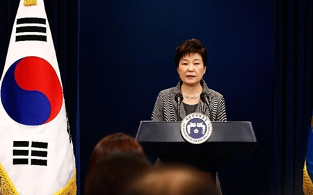 Bà Park Geun-hye bị điều trần về thảm kịch chìm phà Sewol - Ảnh 1