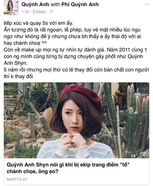 """Bạn bè thân lên tiếng bênh vực Quỳnh Anh Shyn sau khi cô bị tố """"chảnh choẹ"""" - Ảnh 1"""