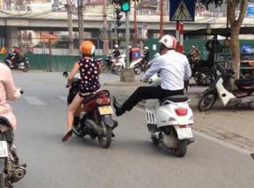 Clip nam thanh niên đạp cô gái mang bầu gây xôn xao - Ảnh 1