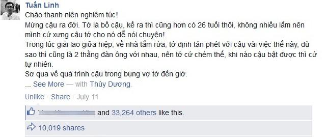 Nhật ký hài hước tặng con trai vừa chào đời hút 46.000 like - Ảnh 1
