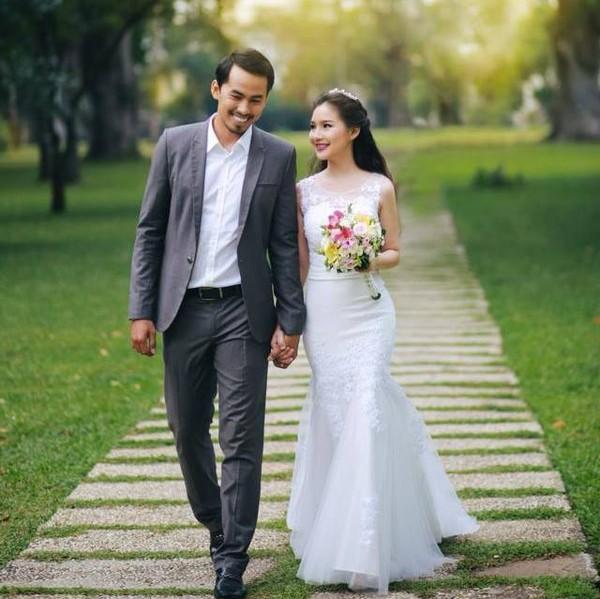 Vợ Duy Nhân bất ngờ xuất hiện rạng rỡ trong vai trò người mẫu ảnh cưới - Ảnh 4