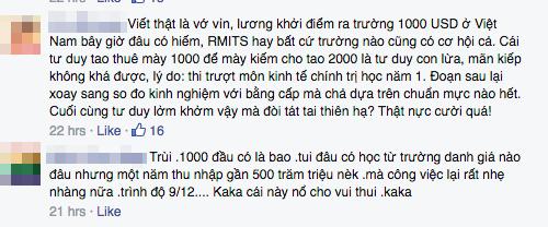 """Dân mạng phản ứng gay gắt """"muốn bạt tai sinh viên RMIT vì mong lương nghìn đô"""" - Ảnh 5"""