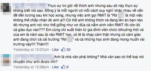 """Dân mạng phản ứng gay gắt """"muốn bạt tai sinh viên RMIT vì mong lương nghìn đô"""" - Ảnh 4"""