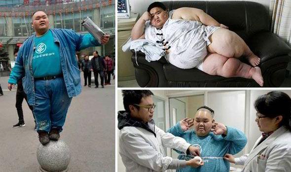 Chàng trai béo nhất Trung Quốc đang nỗ lực giảm cân - Ảnh 1