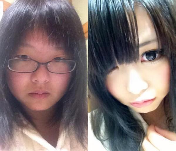 """Choáng với nhan sắc trước và sau khi """"biến hình"""" nhờ make up của cô gái Nhật - Ảnh 1"""