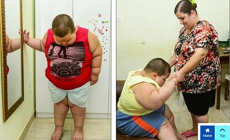 Bé trai 5 tuổi nặng 80kg có thể thiệt mạng vì quá béo - Ảnh 3