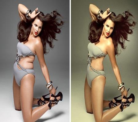 Bất ngờ loạt ảnh những người nổi tiếng trước và sau khi photoshop - Ảnh 3