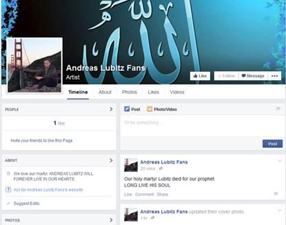 """Máy bay rơi ở Pháp: Cơ phó được gọi là """"kẻ tử vì đạo"""" trên Facebook - Ảnh 3"""