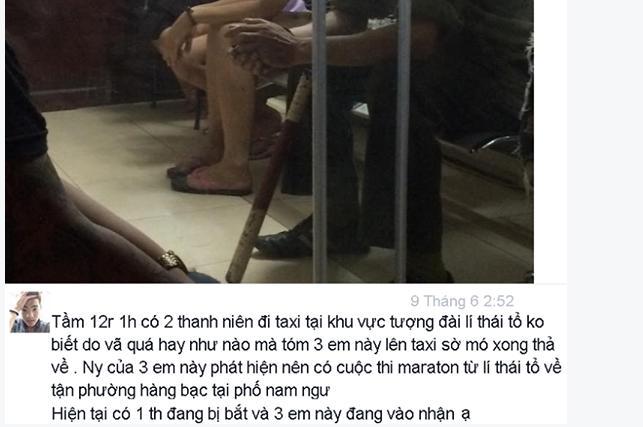 Hà Nội: 3 cô gái bị bạn mới quen sàm sỡ trong taxi  - Ảnh 1