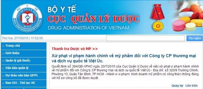 Cục quản lý dược: Công ty Việt Úc vi phạm quy định pháp luật - Ảnh 2
