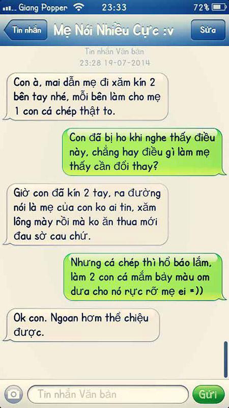 """Cười """"bò"""" với tin nhắn của con trai và bà mẹ U55 """"bá đạo"""" - Ảnh 4"""