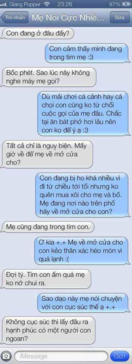"""Cười """"bò"""" với tin nhắn của con trai và bà mẹ U55 """"bá đạo"""" - Ảnh 9"""