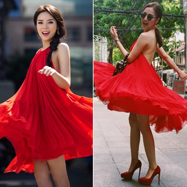 """Kỳ Duyên - Angela Phương Trinh """"đụng"""" váy yếm, ai đẹp hơn? - Ảnh 1"""