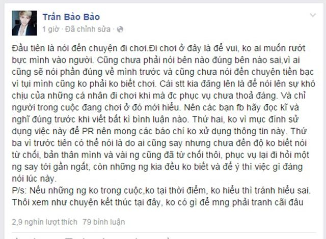 """DJ Mike Hào bức xúc khi BB Trần và bạn bè """"than trời"""" vì hóa đơn 88 triệu - Ảnh 4"""