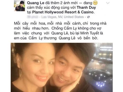 Minh Tuyết: Quang Lê nói chuyện không biết suy nghĩ - Ảnh 1