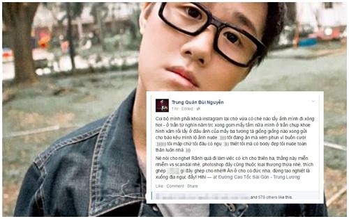 Trung Quân Idol bức xúc vì bị tố chụp ảnh nude - Ảnh 2