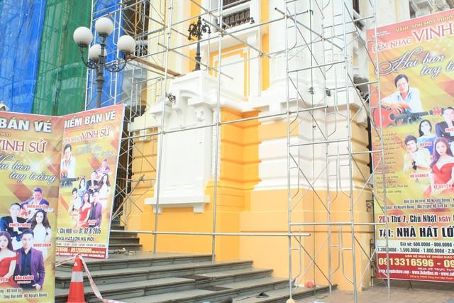 Nhà hát lớn Hà Nội được trả lại màu sơn cũ - Ảnh 6